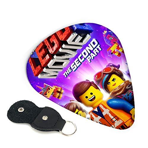 The Lego Movie 2 6 púas de guitarra de doble cara con llavero de cuero