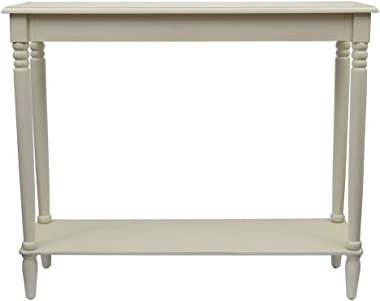 Décor Therapy Simplify Large Console Table, Antique White