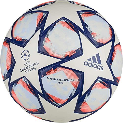 Adidas Unisex – Fin 20 Mini pallone da calcio, bianco/blu/SIGCOR/S, 1