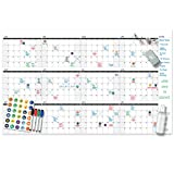 Large Dry Erase Wall Calendar - 24x39 Inches - Blank Undated 2021 Reusable Year Calendar - Whiteboard Yearly Poster - Laminated Office Jumbo 12 Month Calendar