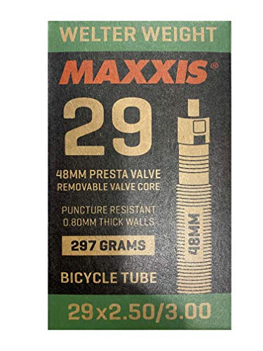 Maxxis Welterweight Fat/Plus 29'' Presta 48 (válvula Fina), Unisex Adulto, Negro, 29x2.50-3.00 FV 48mm
