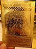 Yugioh The Creator God of Light, Horakhty Custom Golden Metal Card English New