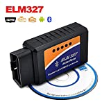 ELM 327 Bluetooth OBD 2 Scanner, Bosmutus OBD II Diagnostic Reader for Android Symbian, OBD2 Diesel Bluetooth Adaptor for All Cars and Trucks