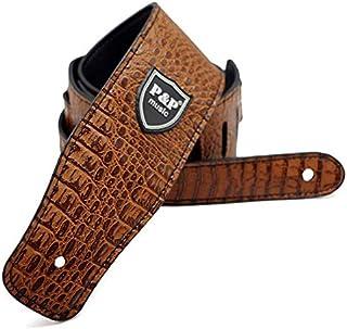 BianchiPatricia Crocodile Leather Guitar Strap Adjustable Electric Guitar Shoulder Strap
