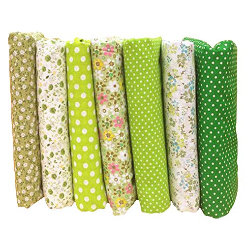 7pcs/lot Floral Series Cotton Fabric DIY for Quilting Patchwork Cushions Pillows Sewing Material Scrapbook Doll Cloth, 25cm25cm(9.9'9.9')