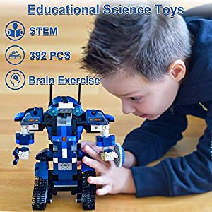 NextX STEM Projects for Kids Remote & APP Controlled Coding Gear Robotics Kit Compatible with Lego Robot Science Kit…