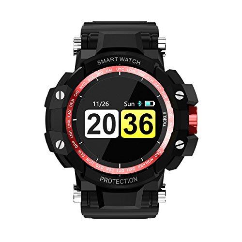 CHRRI Smart Watch, Blutdruck Herzfrequenz Test 200 Tage Standby-Zeit 24 Stunden Allwetter-Überwachung Smart Watch Für IOS und Android,Red