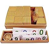 Wumudidi Montessori Golden Bead Material, Madera Matemáticas Ayudas para la...