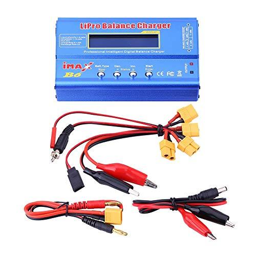 RC gebalanceerde oplader, RC batterijbalanslader, 3 soorten RC Lipo-batterij Digitale gebalanceerde oplader Afstandsbediening met kabels