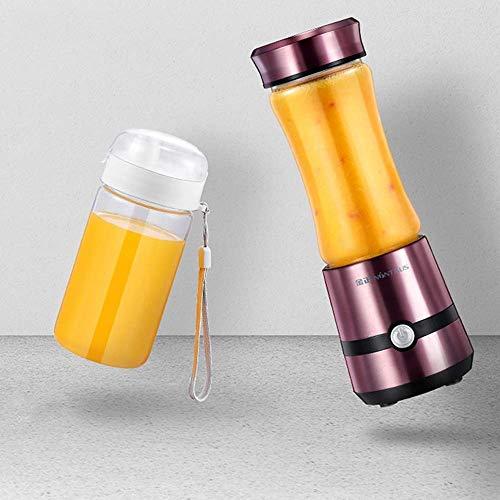 Jsmhh Eléctrica Juicer de la Fruta portátil Taza de Jugo de 280 ml Hervidor Exprimidor con 6 Cuchillas 5000 de Mano mAh batería de Litio Smoothie (Color : Red)