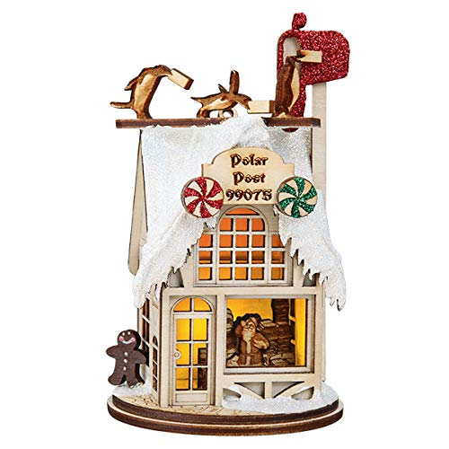 Ginger Cottages Polar Post Office Ornaments for Christmas Tree