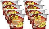 MAGGI 5 Minuten Terrine Spaghetti: in cremiger Schinkensauce, leckeres Fertiggericht, Instant-Nudeln, Eiernudeln mit geräuchertem Speck, 8er Pack (8 x 64 g)