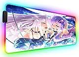 Gaming Mouse Pads Anime Girl Large RGB Mouse Mat Long Purple Hairs Kawaii Gaming Computer Keyboard Pad for Laptop Desk XL 800X300Mm