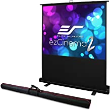 Elite Screens ezCinema 2, Portable Manual Floor Pull Up Scissor Backed Projector Screen 52-inch,16:9, 4:3 Home Theater Off...
