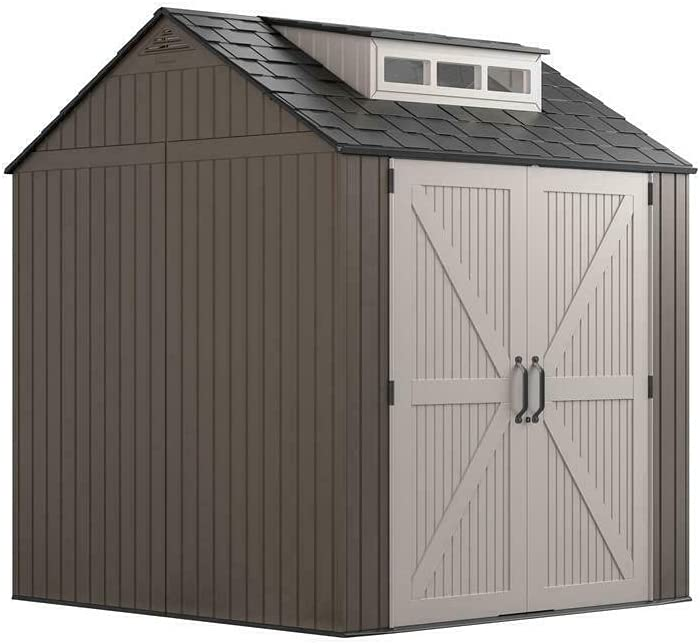 security HUIJK Storage Sheds Shed Chicago Mall 7' Double D Latch Lockable x