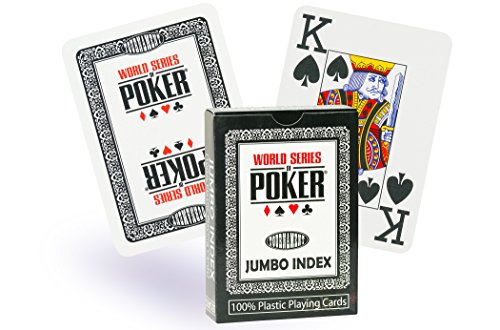 WSOP Carte di plastica Jumbo Index, Colore: Nero