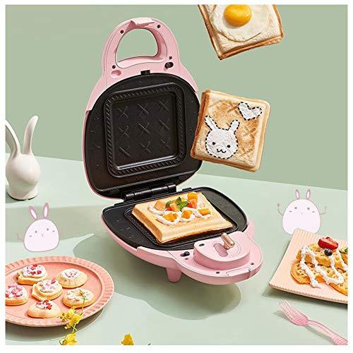 zxj Máquina para Hacer Gofres Sandwichera para Hacer Desayuno Termostato Función Temporizador (Color : A)