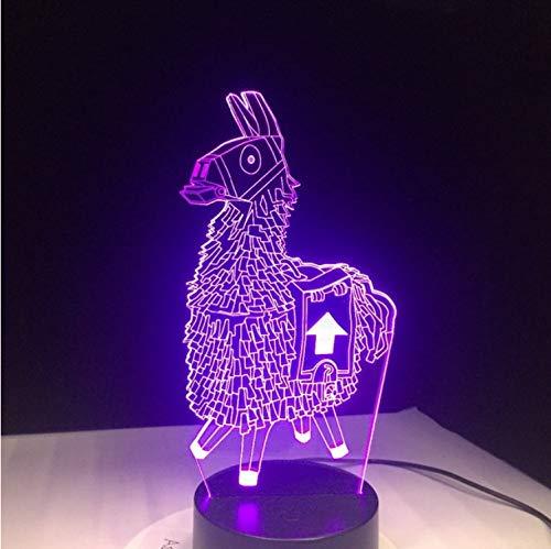 Lama 7 Couleurs Tactile Table Bureau Lumière 3D Led Lampe De Lave Acrylique Illusion Salle Atmosphère Éclairage Pour Les Fans De Jeu