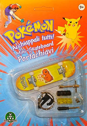 Mini skateboard sleutelhanger met wielen en accessoires (Pokemon) Charmander