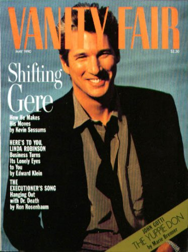 Vanity Fair Magazine May 1990 Richard Gere (Single Back Issue)