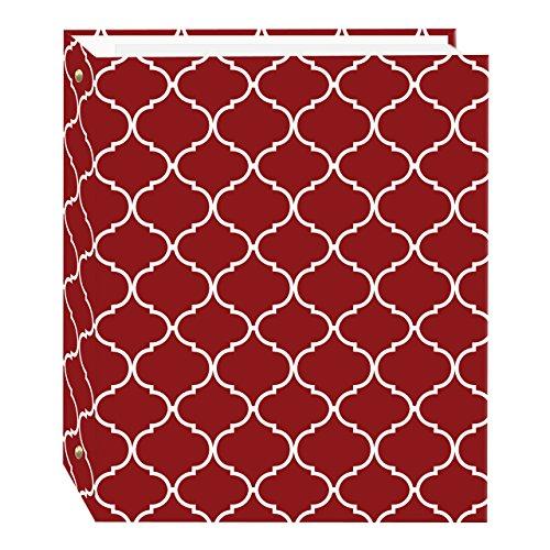 Magnetic Self-Stick 3-Ring Photo Album 100 Pages (50 Sheets), Elegant Diamonds Design