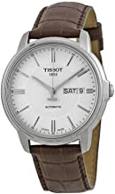 Tissot Men's T0654301603100 Automatic III Swiss Automatic Watch with Brown Band