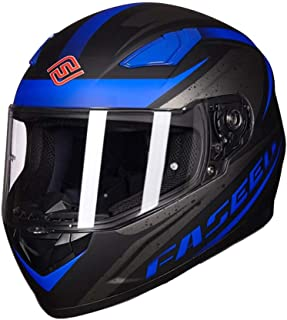Laikeone Motorcycle Full Face Motorcycle Street Bike Helmet Air Ventilation Lightweight ABS Shell Street Bike Motorbike Touring DOT/ECE Approved