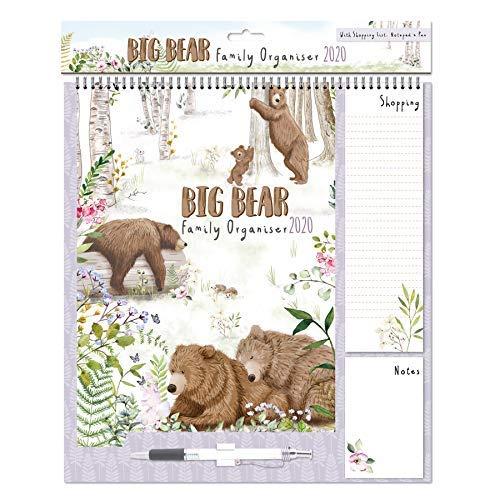 2022 Family Organiser Calendar – Shopping List, Memo Pad and Pen – Bears in The Wood 0251