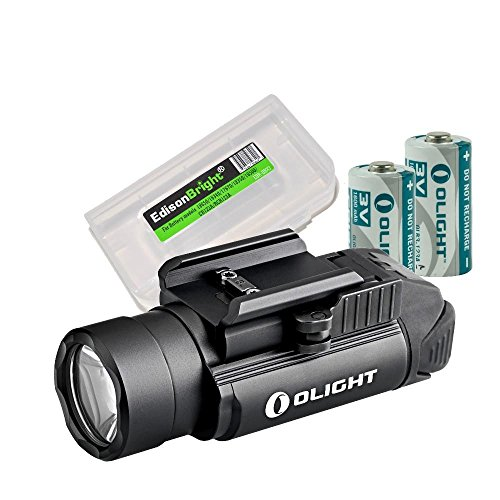EdisonBright Olight PL2 PL2 1200 Lumen LED Weapon/Pistol Light Battery Carry case Bundle