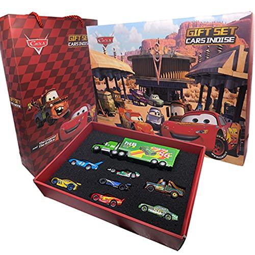 ZIJ Pixar Cars 3 Juguete Rayo Mcqueen Jackson Storm Mack Uncle Truck 1:55 Diecast Metal Coche Juguetes para Niños Regalo de Cumpleaños (Color: Plata)