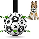 Dog Toys Soccer Balls, Interactive Dog Toys for Tug of War, Dog Tug Toy, Dog Water Toy, Durable Dog Balls for Small & Medium Dogs(6 inch)