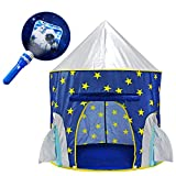 YOOBE Tienda Rocket Ship Play - con BOUNS Space Torch Projector Interior / Exterior Children Playhouse