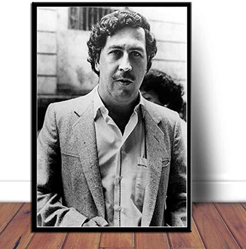 QINGRENJIE Kunstplakat Pablo Escobar Berühmte Poster Und Drucke Wandbild Leinwand Malerei Raumdekoration 42 * 60 cm Ohne Rahmen