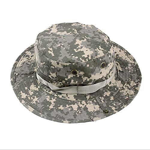 LQ-MAOZI vishoed voor buiten, voor jongens en meisjes, geschikt voor het vissen in de bergen, camouflage, Jungle Round Hat 56 - 62 cm
