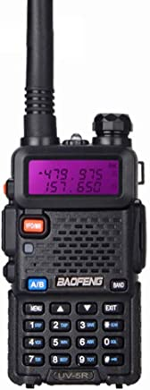 Baofeng UV-5R Walkie Talkie FM Radio 128 canali Radiocomunicazione Ricetrasmittente con Auricolari Originali