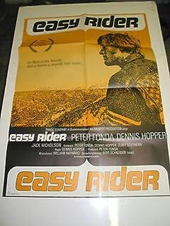 EASY RIDER / ORIG. GERMAN MOVIE POSTER (PETER FONDA & DENNIS HOPPER)