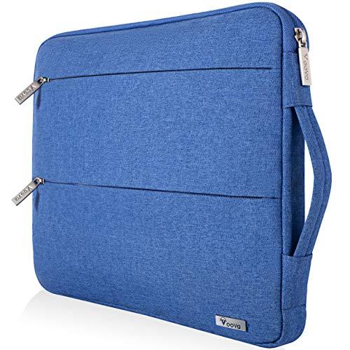Voova Funda para portátiles 13-13.3 Pulgadas con Asa, Impermeable Maletín Ordenador Compatible con MacBook Air 2018-2020 M1, Macbook Pro 13 Touch Bar/M1, XPS 13, 13.5