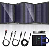 POWOXI Portable Solar Panel 100W Foldable Solar Panel Charger Kit for Jackery Power Station, Goal Zero Yeti Power Station, uaoki...