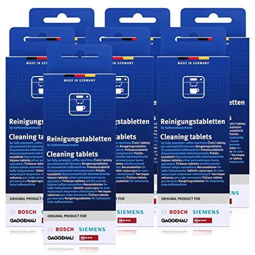 7x Bosch TCZ6001 Reinigungstabletten für Kaffee Vollautomaten TCA 5, TCA 6...