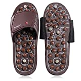 BYRIVER Acupressure Plantar Fasciitis Foot Massager Mindinsole, Jade Stone Indoor Massage Slippers Shoes, Reflexology...