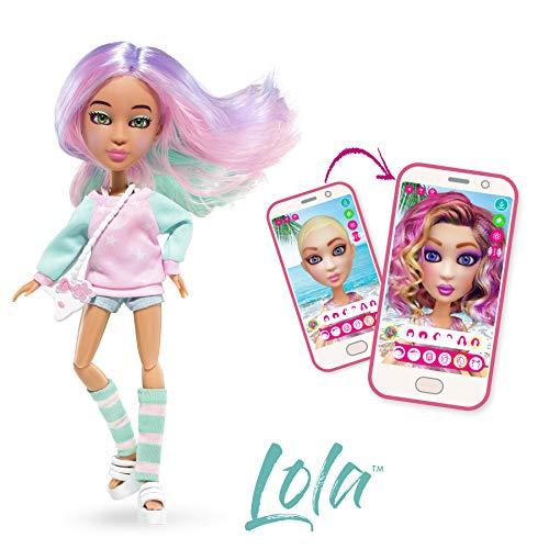 BANDAI YL30263 SnapStar– Ankleidepuppe 23cm– Lola– personalisierbare Puppe mit Perücke und kostenloser App, um deinen eigenen Stil zu kreieren & zu teilen