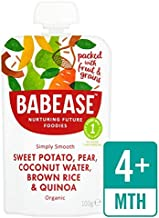 Babease Organic Sweet Potato & Pear, Coconut Water, Brown Rice & Quinoa 100g - Pack of 2