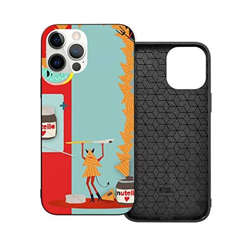 Nutella Devils - Carcasa a prueba de golpes compatible con iPhone 12 y iPhone 12 Pro 6.1'