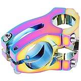 Hozee Vorderradgabel Vorbau, 25,4x35mm Fahrrad Vorbauten CNC-gefräst mit hohlem Design für Mountainbike für/Downhill Bikes/Track Bikes/BMX