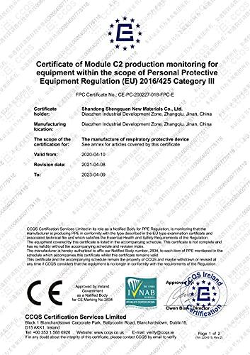 40 Stück – denkturm® FFP2 Maske, Atemschutzmaske, CE Zertifikat CE2834, geprüft EN149:2001+A1:2009 FFP2 NR - 5