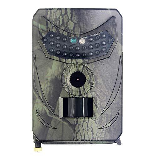 Walmeck 1080P 12MP Cámara Digital de Seguimiento Impermeable Cámara infrarroja de visión Nocturna o monitoreo de Vida Silvestre y Protecciones de Seguridad agrícola