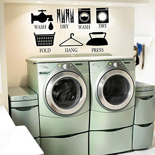 Cooldeerydm muursticker, met logo, voor wasmachine, om op te hangen, muursticker, voor badkamer, vinyl, voor thuis, decoratie, chocolade, 85 cm breed x 48 cm hoog