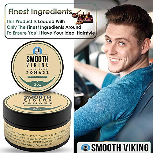 Pomade for Men - Best Hair Styling Formula for Medium Hold and High Shine - Perfect for Straight,...