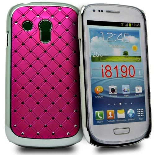 Accessory Master Rosa diamande strass la conception Fiori hard Cover per Samsung galaxy S3 mini i8190