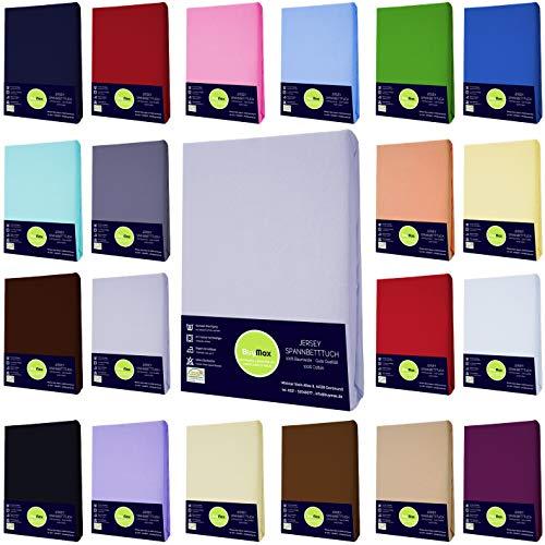 Buymax Jersey Spannbettlaken Spannbetttuch Bettlaken für Kinderbett Beistellbett Babybett 100%...